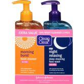 Clean & Clear Gezichtsreiniger Dag en Nacht tweedelig 480 ml