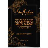 Shea Moisture Gezichtsmasker Clarifying Mud Mask Afrikaanse Zwarte Zeep 15 ml