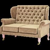 Rice Sofa Beige Soft Pink Legs
