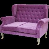 Rice Sofa Pink Grey Legs