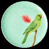 Rice Dinerbord Melamine Vintage Bird Print Green