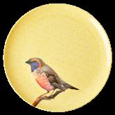 Rice Dinerbord Melamine Vintage Bird PrintYellow