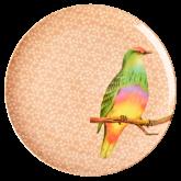 Rice Dinerbord Melamine Vintage Bird Print Nougat
