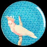 Rice Dinerbord Melamine Vintage Bird Print Blue