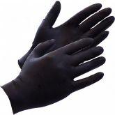 Rimba Black Ninja Latex Wegwerphandschoenen 100 Stuks Zwart L