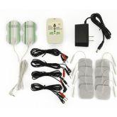 Rimba 4 Kanaals Electro Sex Power box Set met LCD Display Zwart Plastic