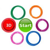Goedkope3dpen XL Filament Pakket Doodler Create 6 kleuren