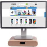 Samdi Monitor Standaard met Lade Donker Walnoot