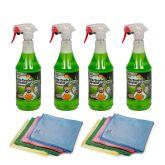 Alu-Teufel Spezial Velgenreiniger Spray 1 l 4 stuks + Microvezeldoek 10 stuks