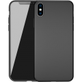 Suros Siliconen Backcover iPhone X Zwart