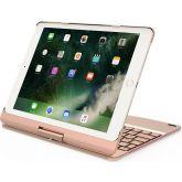 Suros Draaibaar Toetsenbord iPad Air 1/2 iPad Pro 9,7 Inch (2017) Goud