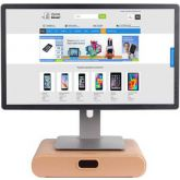 Samdi Monitor Standaard met Lade Eiken